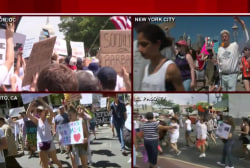 Thousands rally to protest Trump's immigration policies