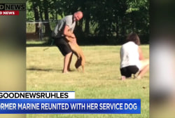 #GoodNewsRUHLES: Marine Corps vet reunited with her service dog
