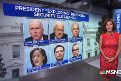 President Trump threatens to strip security clearances