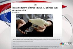 President Trump:  I'm looking into 3D plastic guns