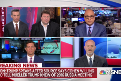 The impact of Cohen talking about Trump's knowledge of Trump Tower Russia meeting