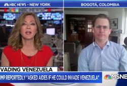 President Trump floats the idea of invading Venezuela