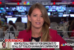 Big Question: How politically risky is it for Dems to go all out to block Kavanaugh's confirmation?