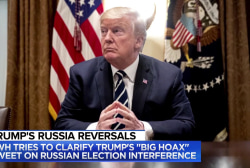 Donald Trump's shift on Russian election interference