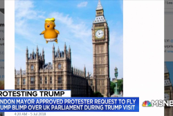 'Trump Baby' blimp to hover over London during Trump visit