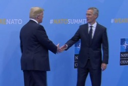 President Trump points fingers at NATO over defense spending
