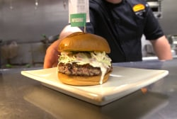 Impossible Foods has created a plant-based burger that bleeds