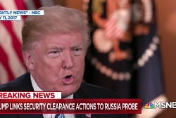 Bombshell: Trump links security clearance actions to Russia probe