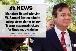 Lobbyist admits he funneled cash to Trump inauguration