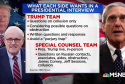 What is the Trump team looking for in an interview with Mueller?