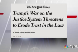 NYT: Trump 'at war with the law'