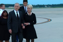 McCain casket arrives at Joint Base Andrews