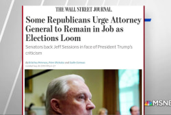 WSJ: Republicans urging Sessions to stay in job