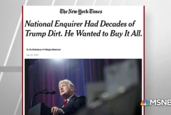 NYT: Trump, Cohen tried to buy decades of dirt from Natl Enquirer