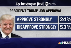Trump's disapproval soars, Mueller approval solid