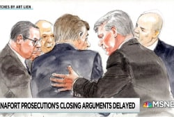 Manafort trial schedule thrown by secret meetings and sidebars