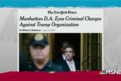 Breaking: Manhattan D.A. looking at charges for Trump Org: NYT