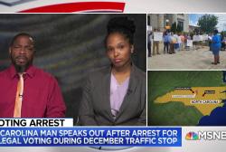 North Carolina man speaks out after arrest for illegal voting