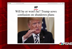 Trump continues to create confusion over shutdown