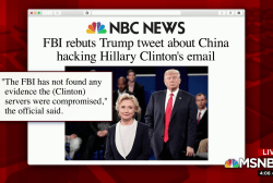 Lack of evidence doesn't stop Trump's Clinton tweet