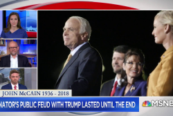 Trump's feud with McCain lasted until the very end