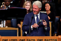 Bill Clinton remembers Aretha Franklin at Detroit funeral service