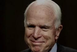 Sen. John McCain returns to Washington one last time