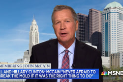 Kasich: McCain carried torch 'brighter than all the other torches'