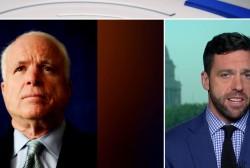 President Trump forced to honor Sen. John McCain