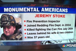 #MonumentalAmerican: Firefighter killed in California Carr fire