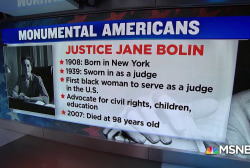 #MonumentalAmerican: First African-American female judge
