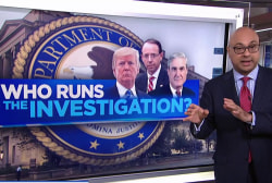 President Trump says he 'could run' Mueller's Russia investigation
