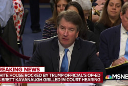 Watch Trump SCOTUS pick reveal view a President can't be indicted