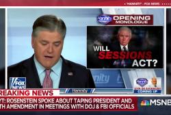 Sean Hannity tells Trump: Don't fire Rosenstein. This is a setup.