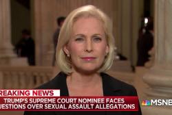 "Senator Kirsten Gillibrand was ""disturbed"" by GOP Senators"