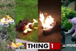 People are lighting shoes on fire to 'own the libs'