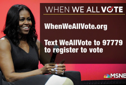 Former first lady Michelle Obama launches When We All Vote campaign