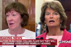 Pressure intensifies on key Republicans ahead of Kavanaugh vote