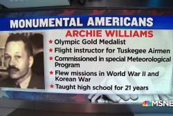 #MonumentalAmerican: Weatherman, olympian, teacher, and veteran