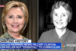 TX voted to remove Hillary Clinton and Helen Keller out of curriculum