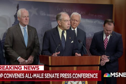 Sen. Merkley: White, male, GOP 'crew' treat women like a 'problem'