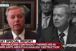 Watch GOP Senators own themselves on Kavanaugh 'obstruction' cries