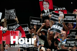 Women from across the country protest Kavanaugh on Capitol Hill