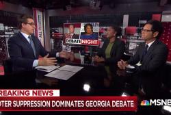 Voter suppression dominates Georgia gubernatorial debate