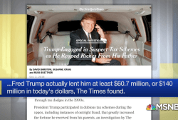 In reality, Trump's father lent him tens of millions of dollars