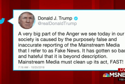 Trump tweets media 'must clean up its act, FAST!'