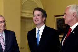 Is Kavanaugh so damaged he can't be a fair jurist?