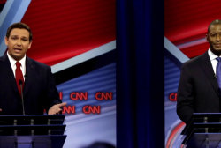 DeSantis provides a dodge for the ages in Florida governor's debate