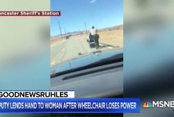 #GoodNewsRUHLES: CA deputy pushed elderly woman home in wheelchair