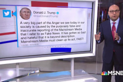 President Trump blames media after pipe bomb scares
